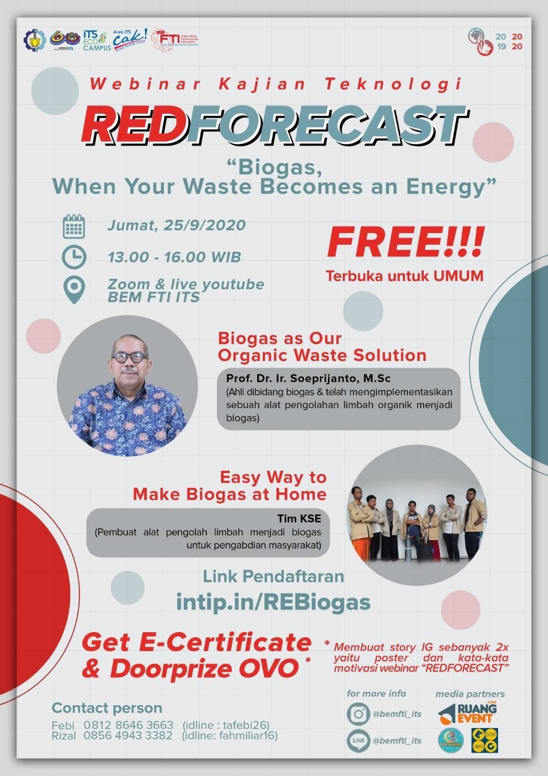 REDFORECAST: Webinar Kajian Teknologi