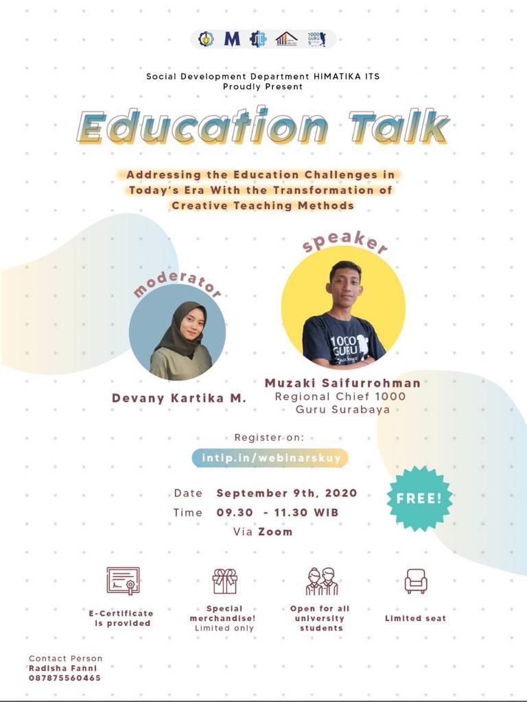 Education Talks HIMATIKA ITS