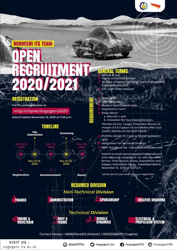 [ Nogogeni Open Recruitment ]