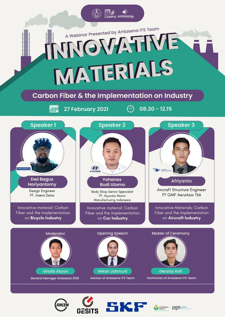 Webinar Innovative Materials: Carbon Fiber & the Implementation on Industry