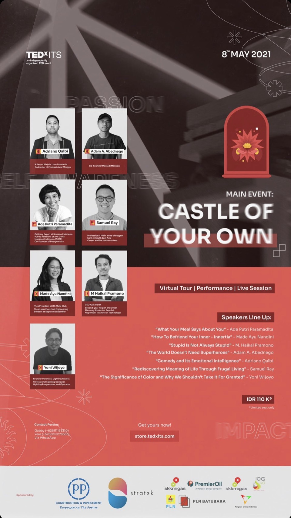 """TEDxITS Present """"Castel of Your Own""""."""