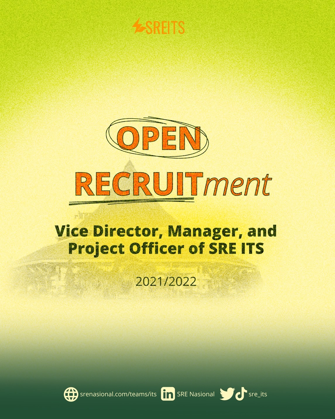 [SRE ITS 2021/2022 IS OFFICIALLY RECRUITING!]
